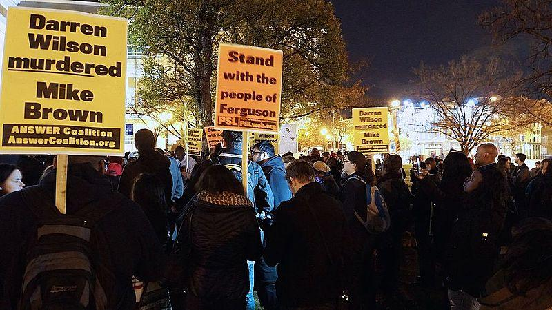 Protesters+gathered+in+Washington%2C+D.C.%2C+in+the+wake+of+two+grand+jury+decisions.
