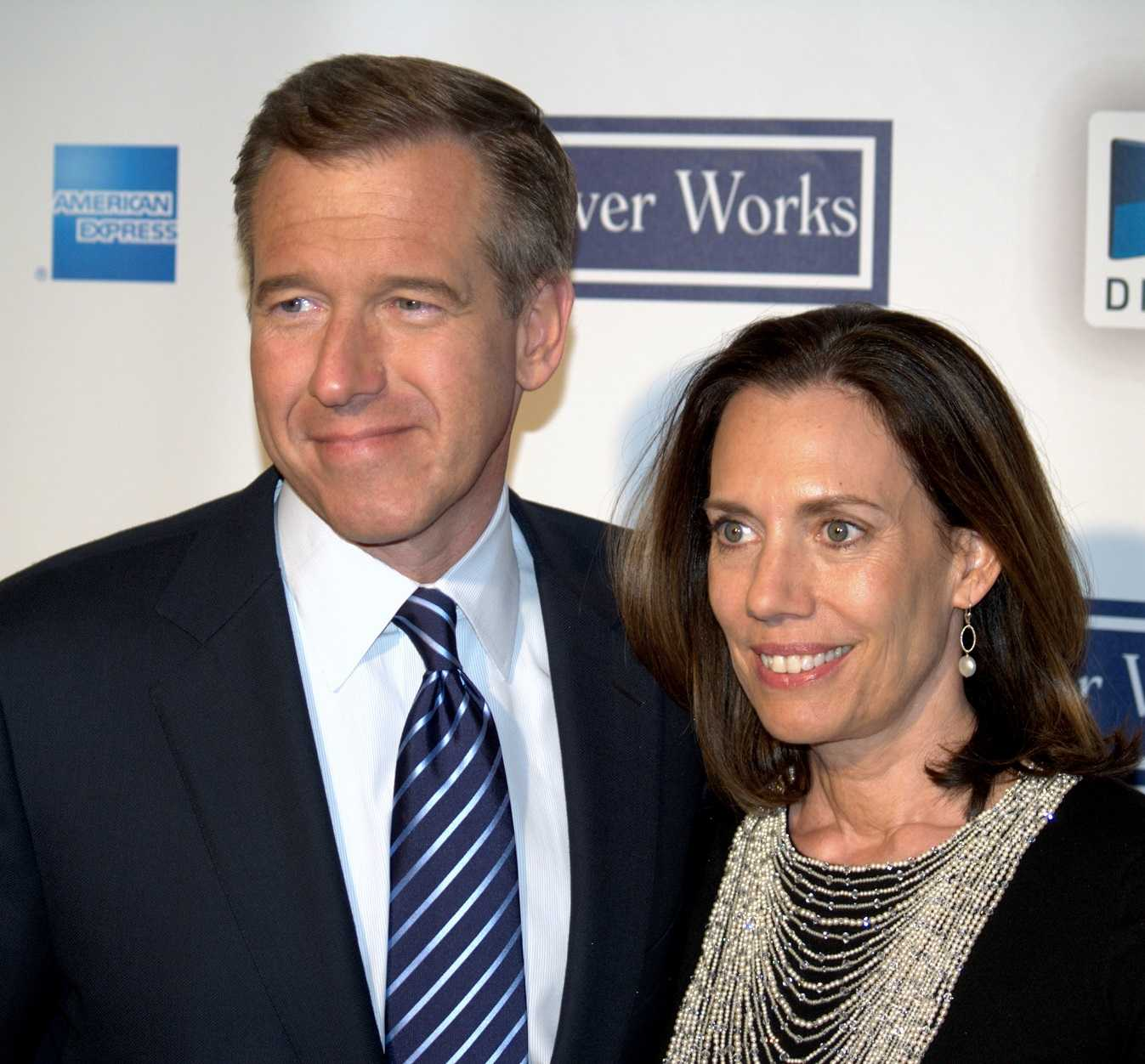 Brian Williams and his wife, Jane, in 2009. Mr. Williams faces intense criticism for statements about his experiences in Iraq in 2003.