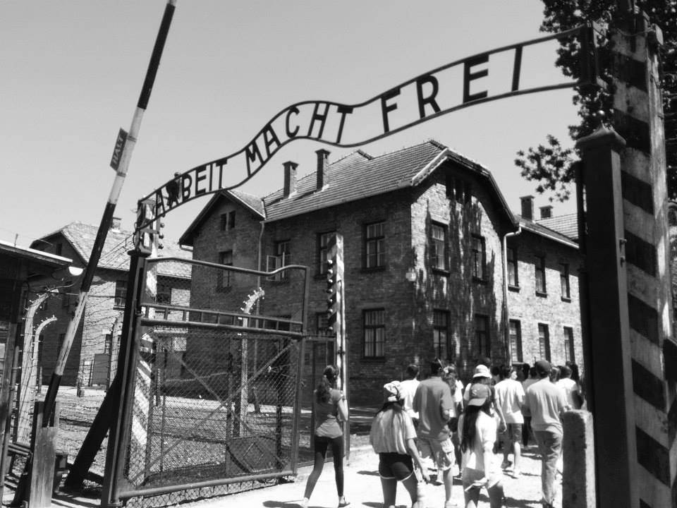 "Auschwitz's terrifying, ironic sign: ""Work will set you free."""