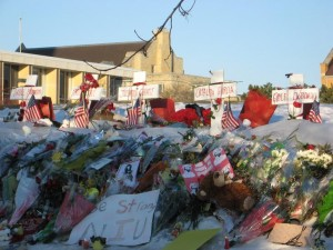 Schools are often the locations of horrific acts, which then become makeshift memorials sites.