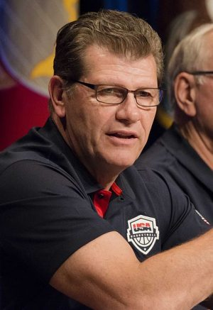 Coach Geno Auriemma has led the Huskies to 75 straight victories.