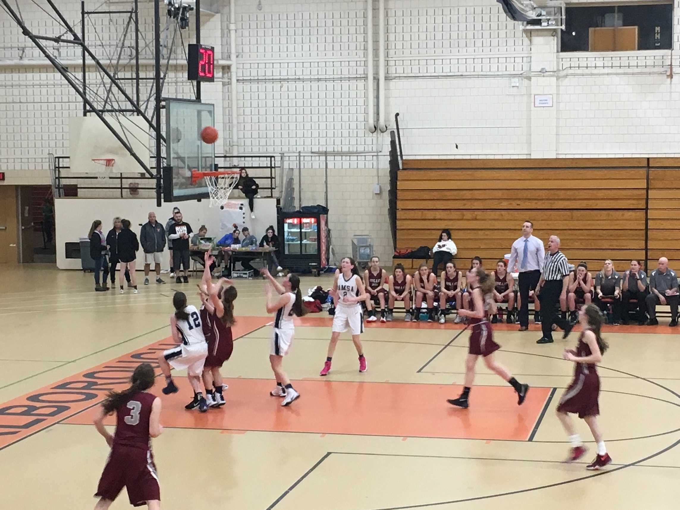 The AMSA varsity girls saw their season end with a playoff loss to Millis.
