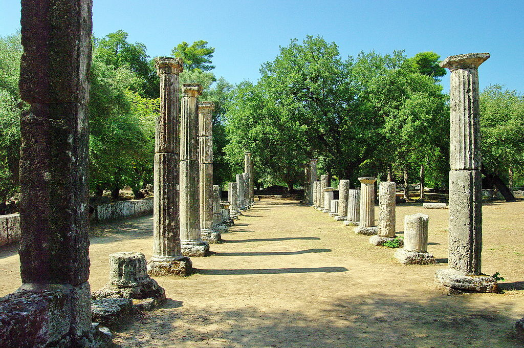 Warfare was halted during the ancient Olympic Games, allowing athletes to travel in peace.