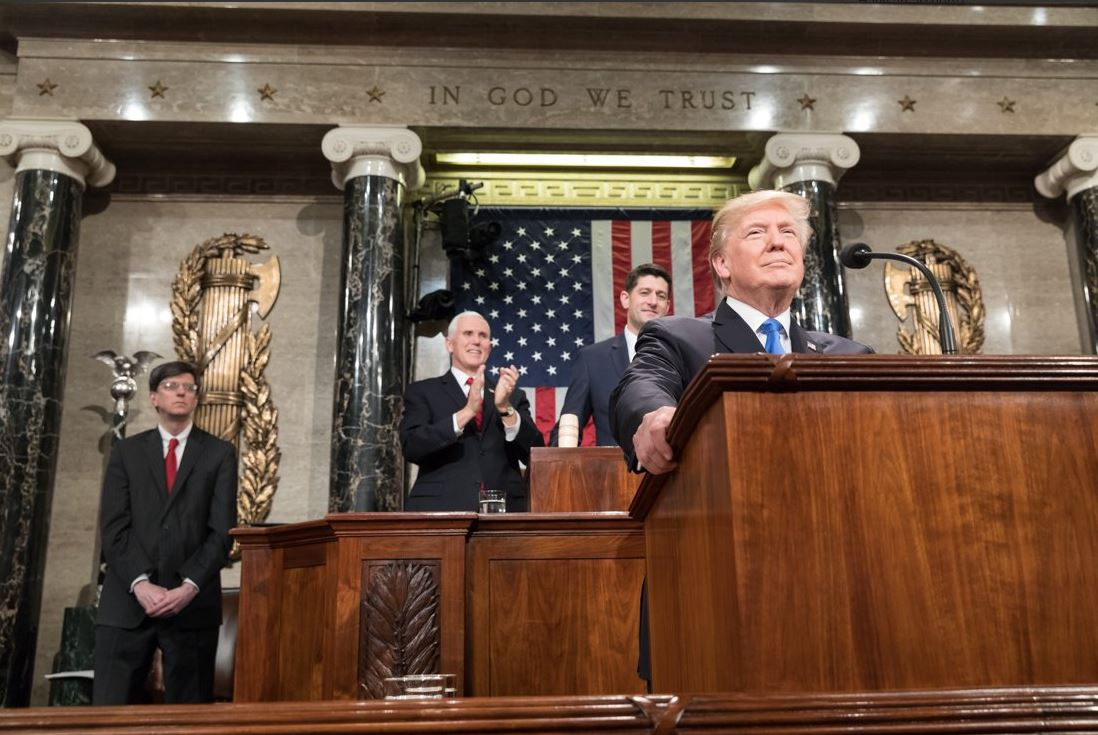 President Trump gave his first State of the Union speech Tuesday.