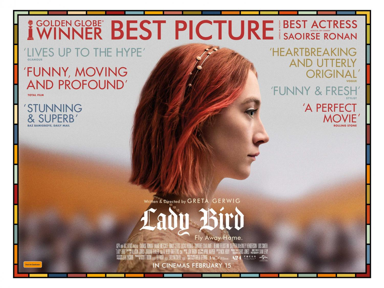 Greta Gerwig's Lady Bird is nominated for five Academy Awards.