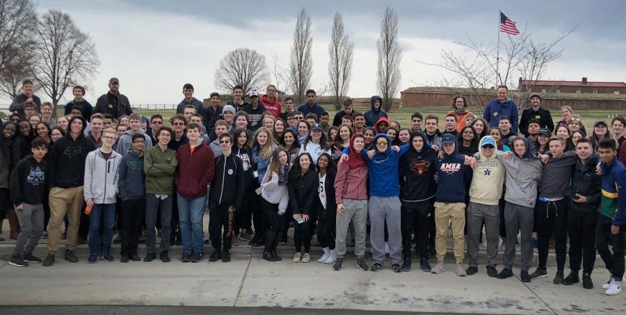 AMSA%27s+Class+of+2020+gathered+outside+of+Ft.+McHenry+in+Maryland.