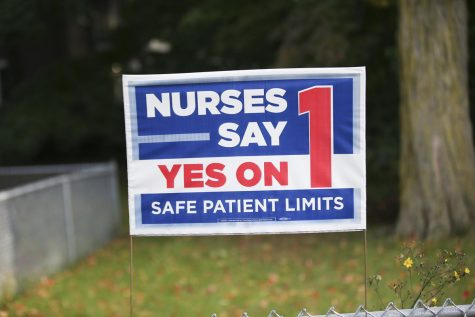 Question 1 concerns a proposal to institute patient limits for nurses.