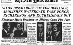 The Oct. 21, 1973 edition of The New York Times announcing Cox's firing.