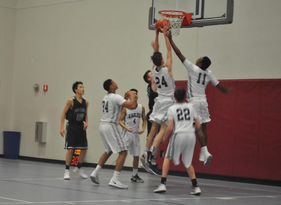 AMSA, led by junior Drew Meyer, dominated the boards Tuesday.