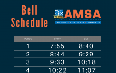 AMSA adopted a new bell schedule shortening the day and passing time between classes.
