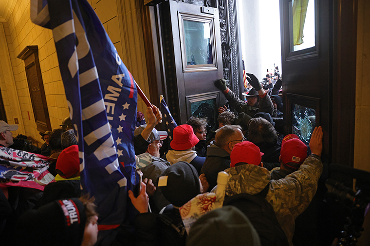 Rioters broke into the U.S. Capitol, forcing members of Congress into a lockdown.