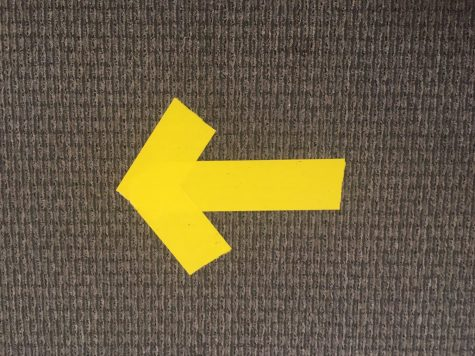Arrows on campus literally and symbolically point the way forward.